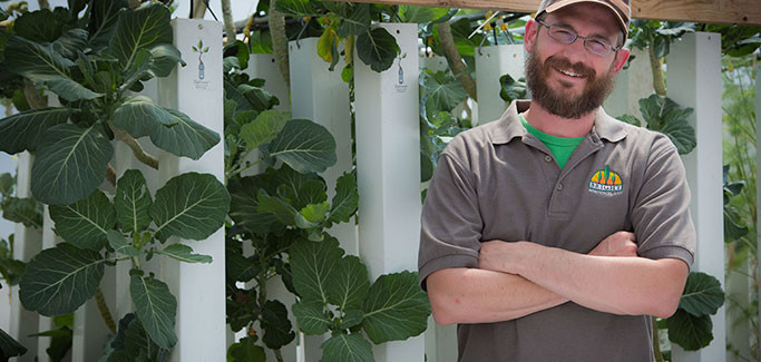 Nate Storey of Bright Agrotech with Vertical Ziptowers