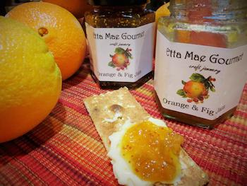 Orange & fig jam is one of many flavors offered by Riverside­based Etta Mae Gourmet. (photo courtesy Laura Goalen­Anderson/Etta Mae Gourmet)