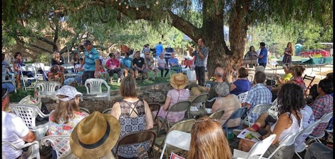 Meeting at Fox Farm Urban Farm to Discuss Local Food System in Riverside California