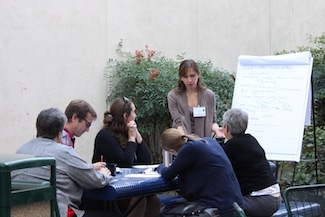 Participants at a California Food and Agriculture Enterprise planning workshop discuss its future goals and aims. (photo courtesy Don Davidson/University of California, Riverside)