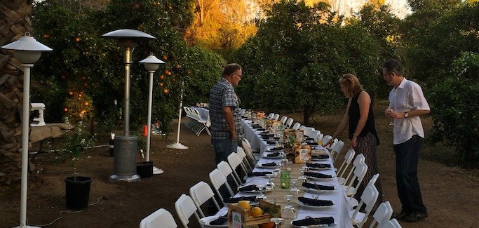 "City of Riverside Displays Local Food Chops at Inaugural GrowRIVERSIDE ""Dinner in the Grove"""